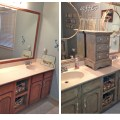 Our bathroom vanity before and after