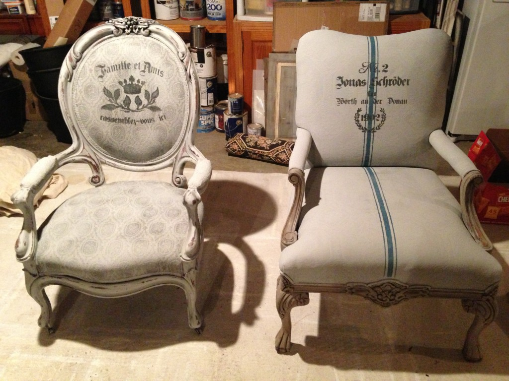 Chalk Paint Chairs Painting Fabric With Annie Sloan Chalk Paint