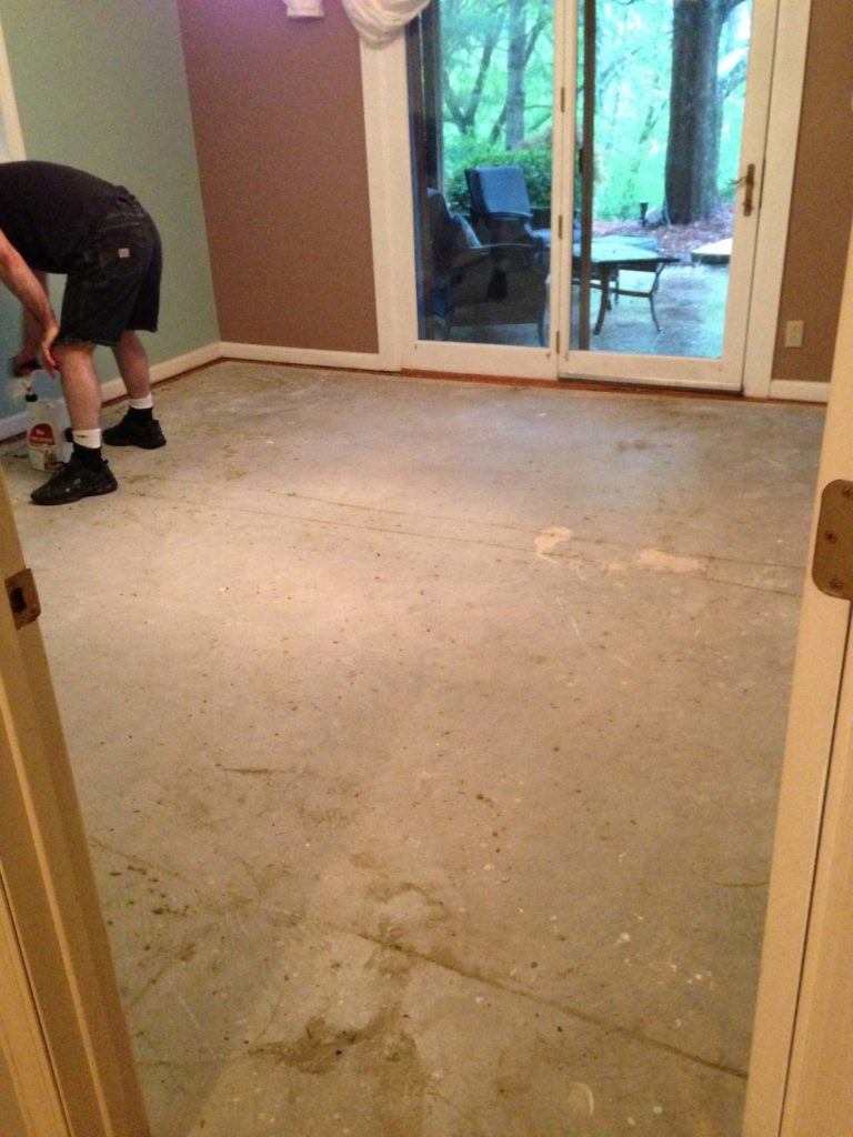 Painted Floors with Annie Sloan Chalk Paint