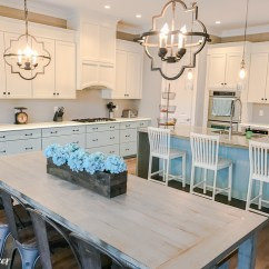 Colors Of Kitchen Cabinets Small Lighting Two Different Paint Bella Tucker Blue And White Decorative Finishes