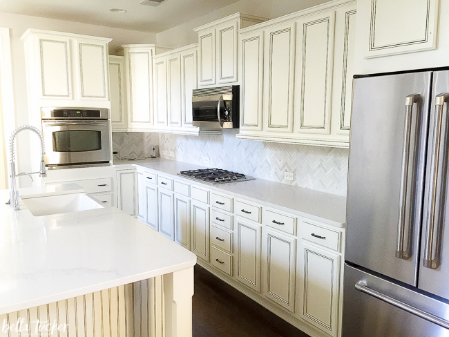 best kitchen cabinets wood the cabinet paint colors bella tucker decorative finishes painted in sherwin williams dover white