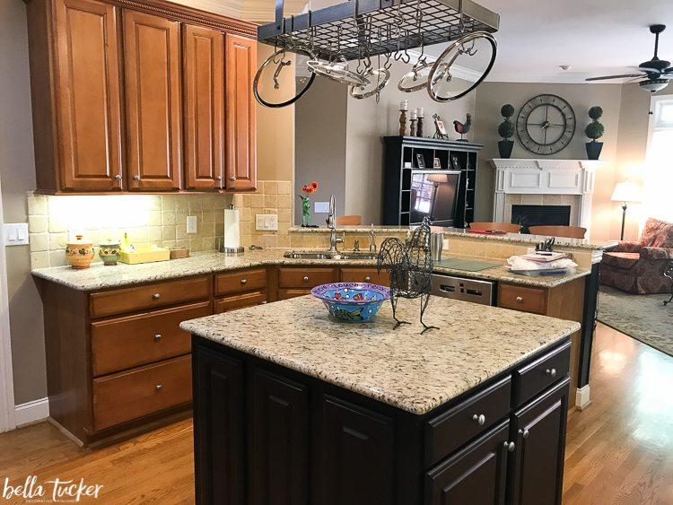 2 tier kitchen island cabinets white two update - bella tucker decorative ...