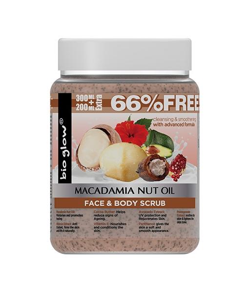 Piling za lice i telo Bio-Glow MAcadamia 500ml