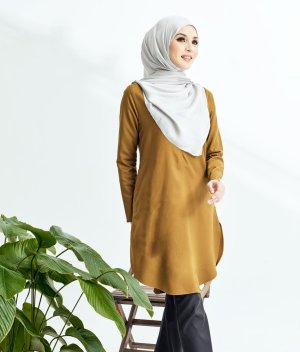 Lily Long Top Golden Brown