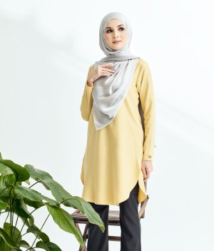Lily Long Top Sandy Yellow