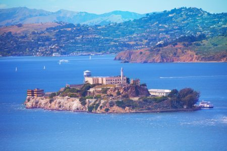 San Francisco bay and Alcatraz island