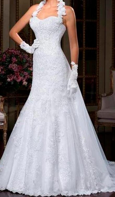 Vestidos de noiva Simples Modelo Tomara que Caia