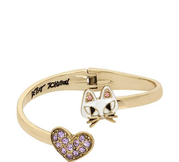Betsey Johnson Jewelry Mini Critters Cat Bangle Nwt