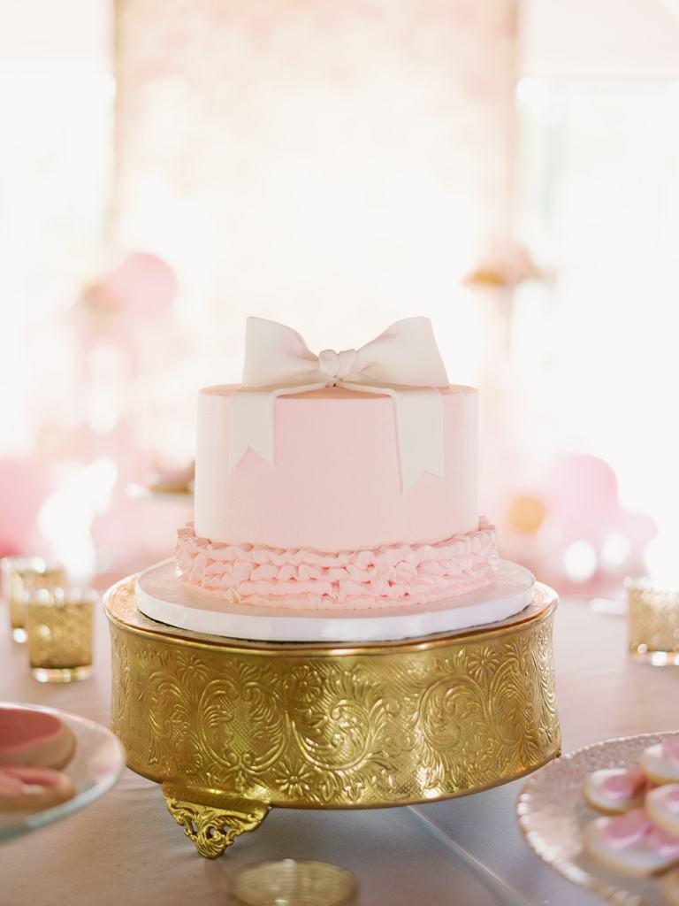 precious pink baby shower cake