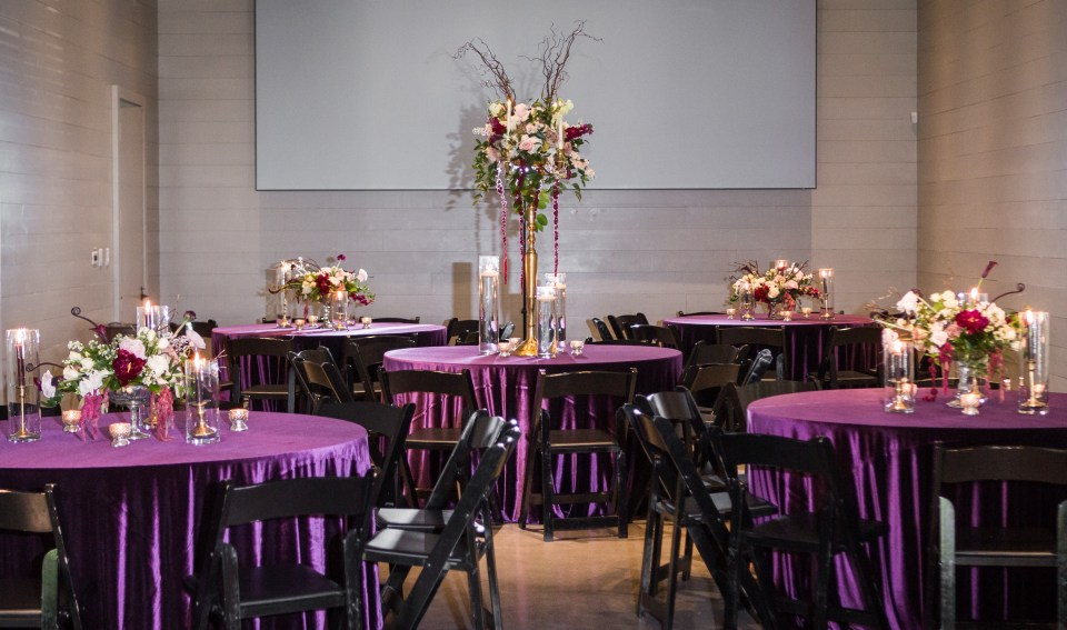 glamorous wedding reception room