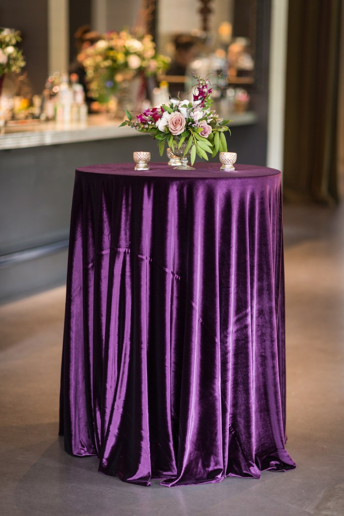 glamorous violet cocktail table