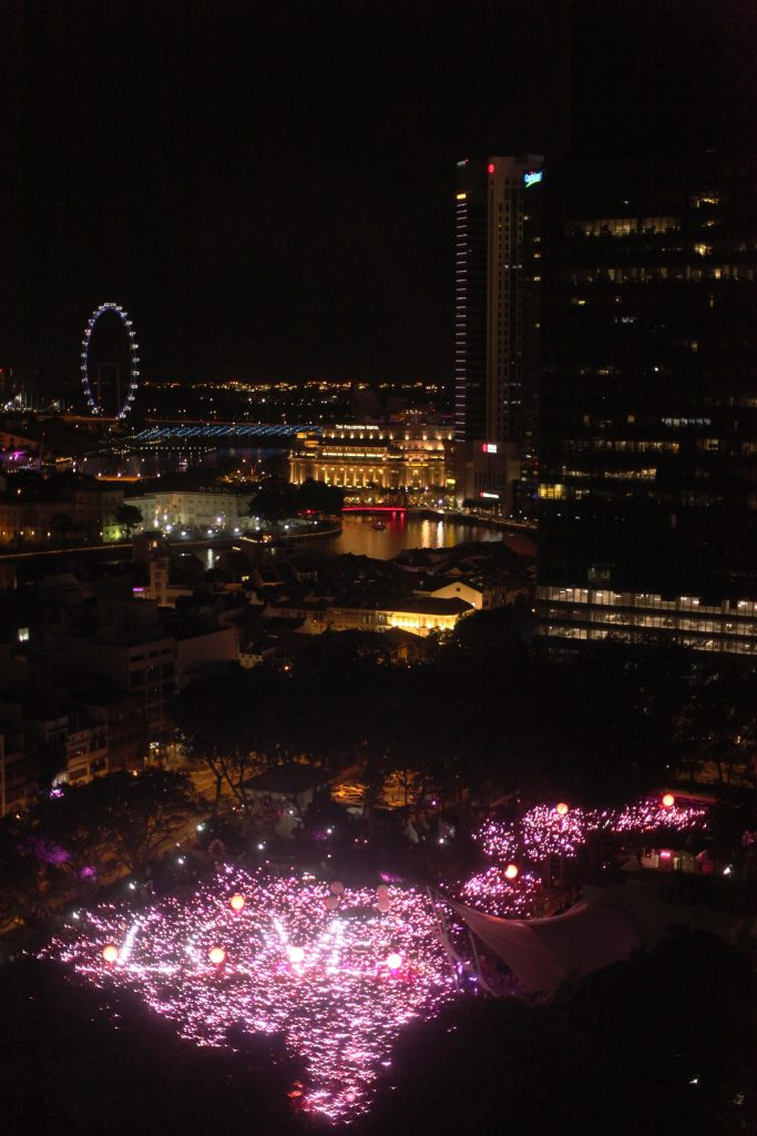 28000 people forming Pink Dot with a special LOVE note for Singapore