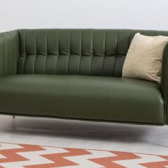Dark Green Leather Sofa Enchanted Home Pet Bed Canada Annabelle Two Seater Bella Casa London