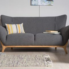 Wesley Sofa 5 Piece Leather Sectional Dark Grey Two Seater Upholstered Bella Casa London Mason