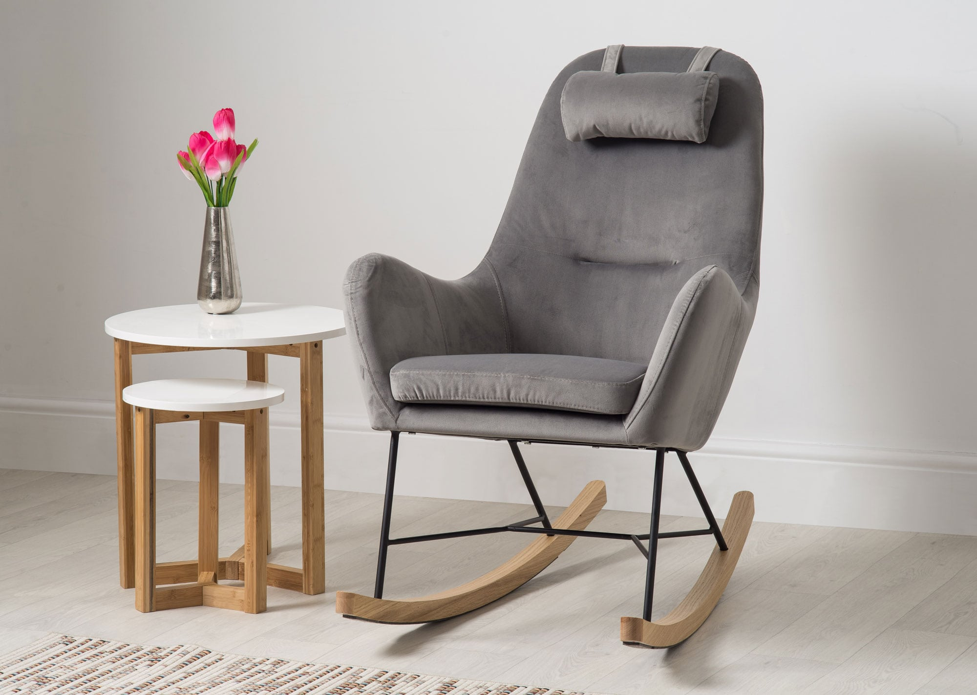 Barton Chair Barton Accent Rocking Chair Grey Bella Casa London