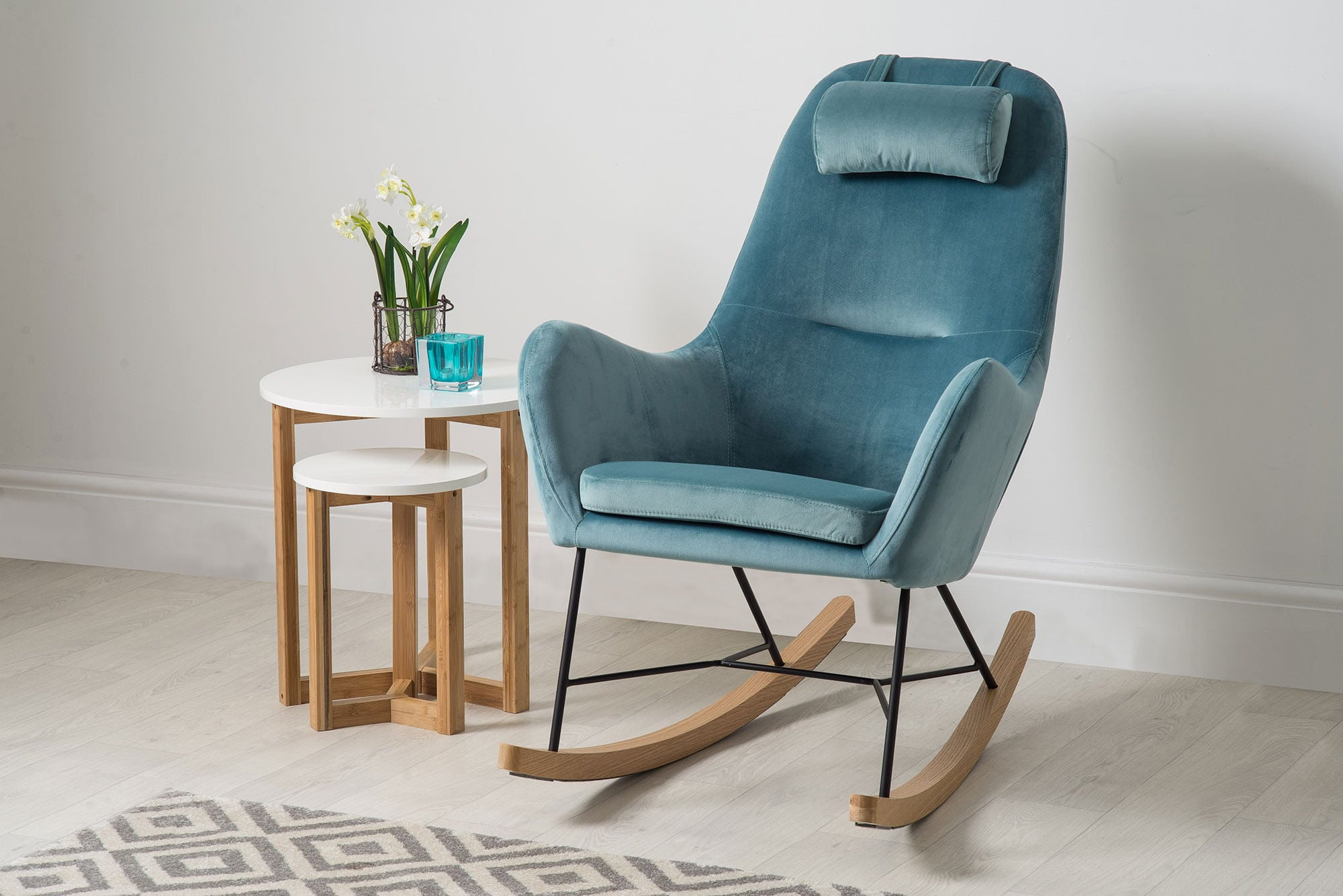 Accent Rocking Chairs Barton Accent Scandinavian Rocking Chair Bella Casa London