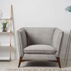 Grey Modern Armchairs Double Chair With Ottoman Oliver Single Armchair Bella Casa London