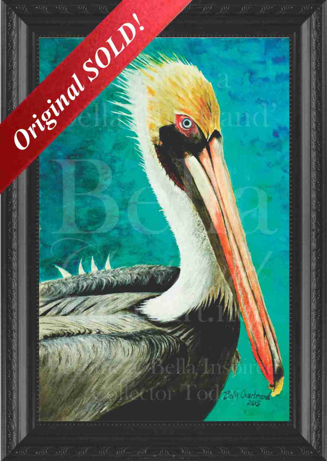 """Spike the Pelican"" from Bella Inspired Seascape Collection by Bella Chartrand from Utopia USA"