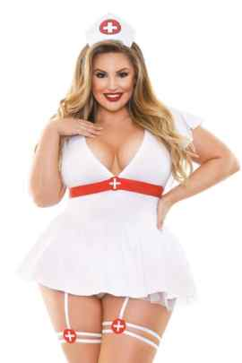 Plus size costume - bedside nurse - bella curves lingerie