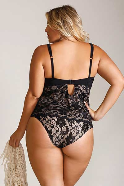 Ocean Noir tankini plus size swimwear from Bella Curves Lingerie