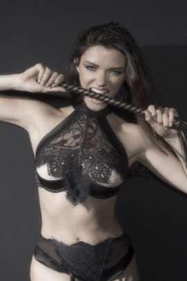 Plus size high neck peek a boo bra