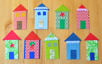 Paper House Ornaments Or Tags Things To Make And Do Crafts And