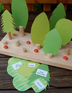The crafty crow forest chore chart write chores on back of trees also things to make and do crafts activities for kids rh thecraftycrow