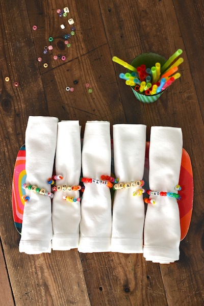 Thanksgiving Kids Craft Beaded Napkin Rings Things To