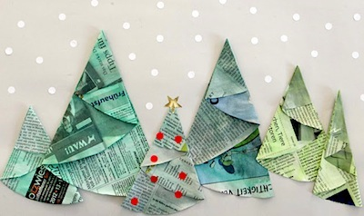 Folded Paper Christmas Trees Things To Make And Do