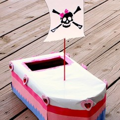 No Sew Chair Pockets Flip Flop Chairs Pirate Ship Valentine Mailbox - Things To Make And Do, Crafts Activities For Kids The ...