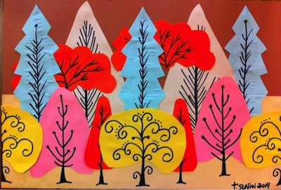 Construction Paper Tree Art Things To Make And Do
