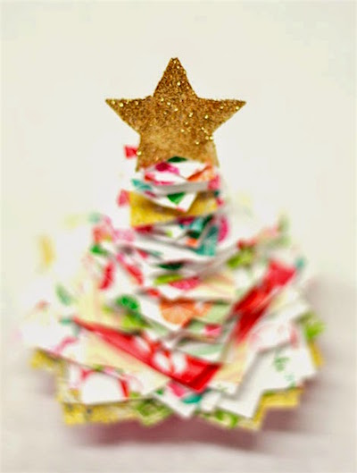 Stacked Paper Christmas Tree Craft Things To Make And Do