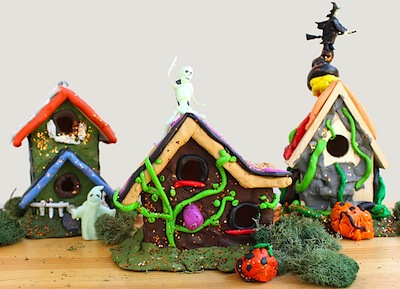 Miniature Haunted Houses With Modeling Clay Things To