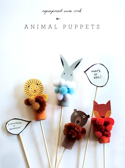 Cork Puppet Craft For Kids Things To Make And Do Crafts