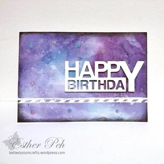 Card Inspiration Galaxy Birthday Card Bellaelysium