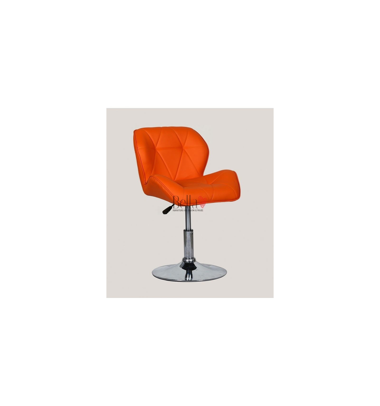 orange chair salon mesh back office with lumbar support luxury elegant and stylish chairs for beauty nail salons bfhc111n