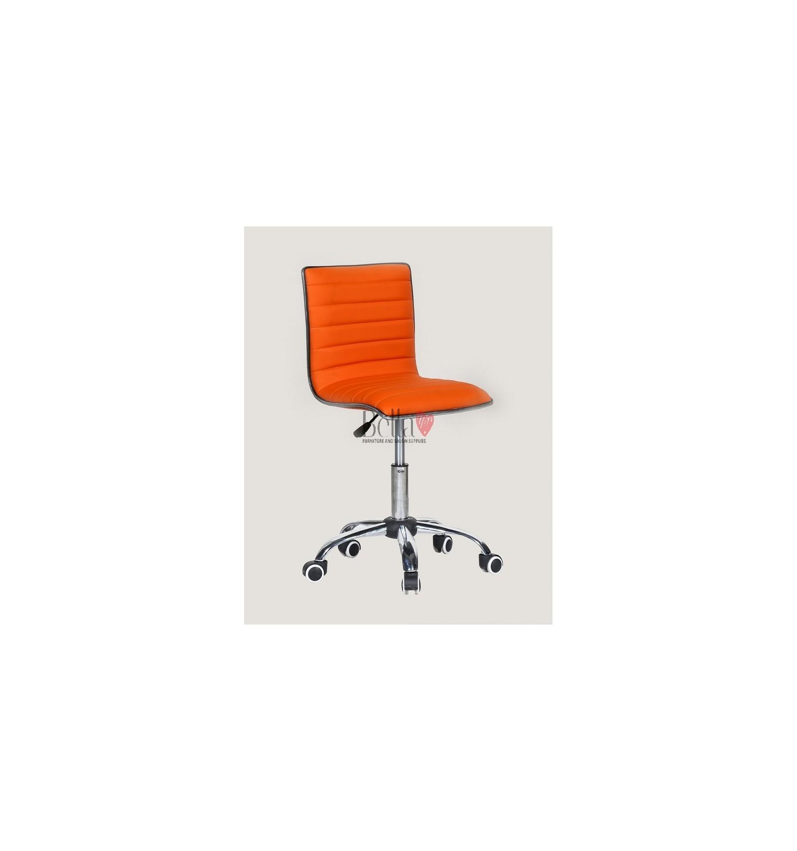 orange chair salon design materials best chairs for beautician beauty salons