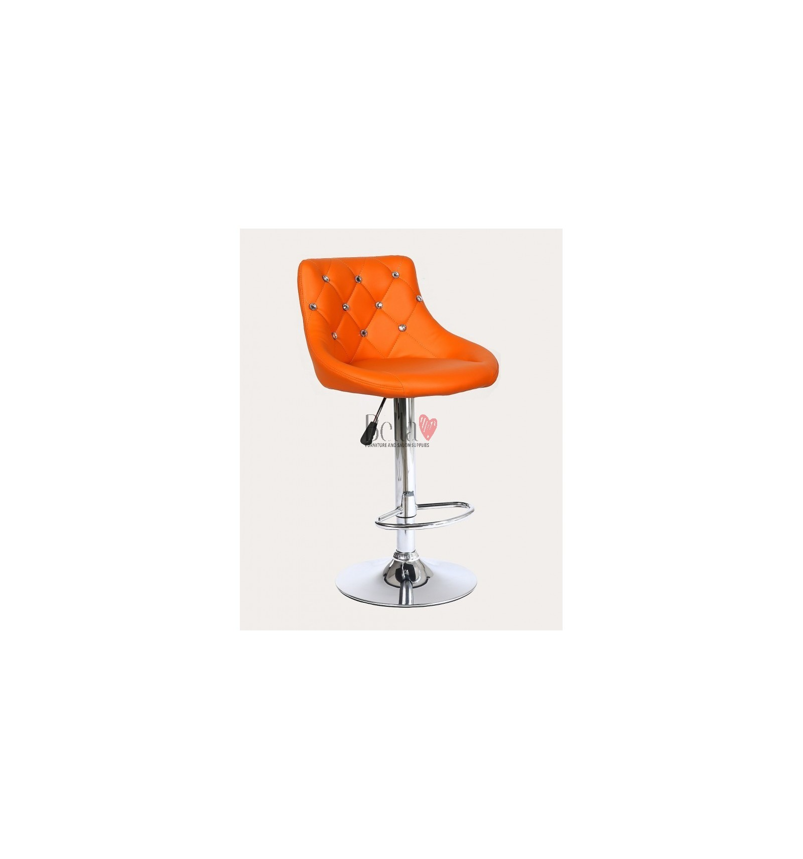 orange chair salon red chairs ikea high for makeup and beauty