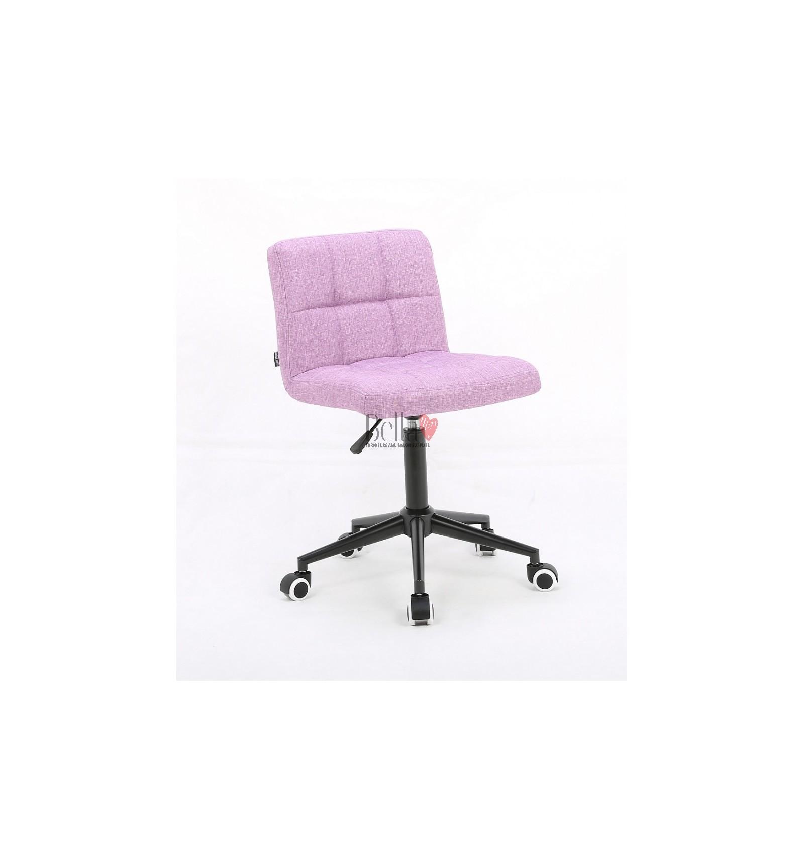 Elegant salon chairs with chromeblack base perfect for