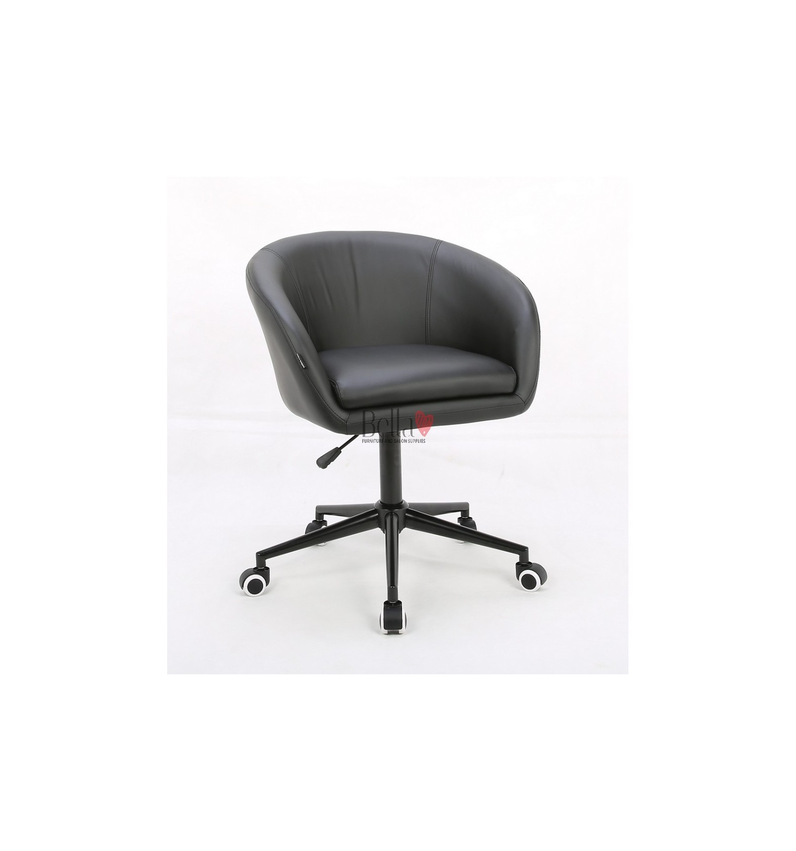 Black salon chairs on wheels for sale Salon chairs for