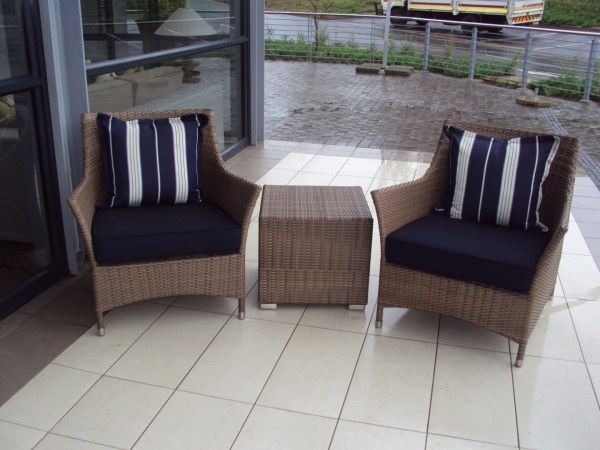 Double weaved Elita arm chairs in coffee cream