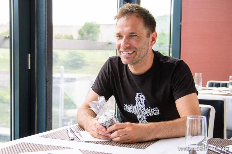 Pintér Béla a Melba étteremben