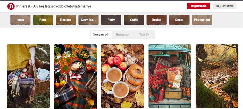őszi piknikes képek a pinteresten