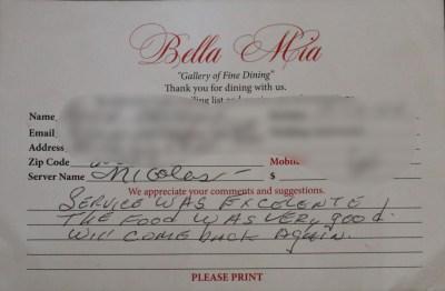Bella Mia Fine Dining_4002