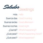 Bella Musing Spanish Greetings