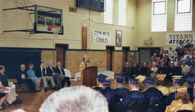 High school graduation, May 2001