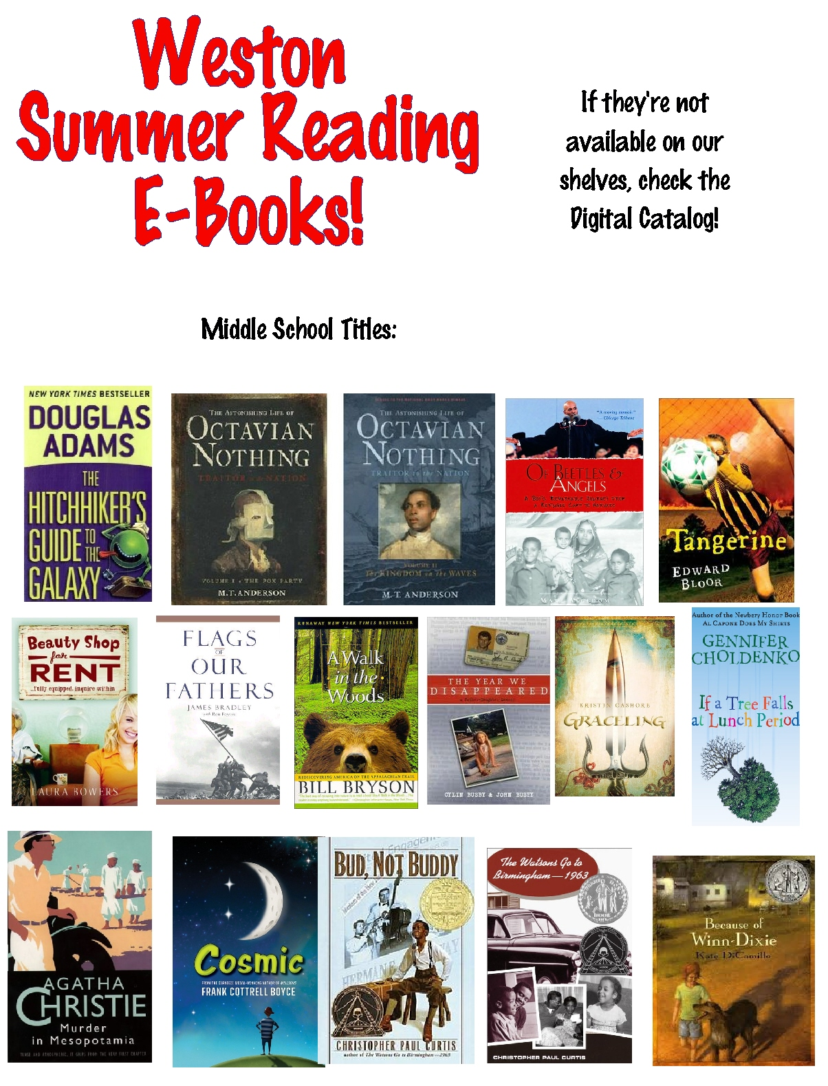 Weston Library E Books For Kids And Teens