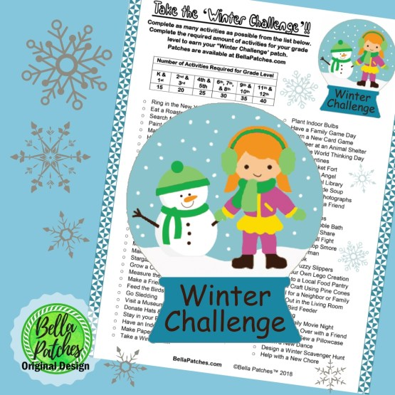 Winter Challenge Patch Program for Girl Scouts and Girl Guides