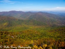 Looking over Shenandoah Mountains from Old Rag Mountain