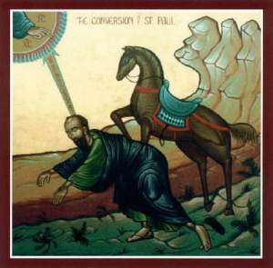 Icon of the conversion of St. Paul